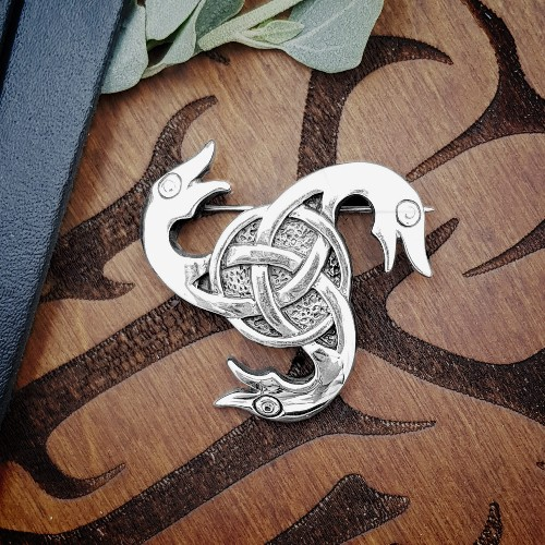 Heilung - Dragon Head - BROOCH