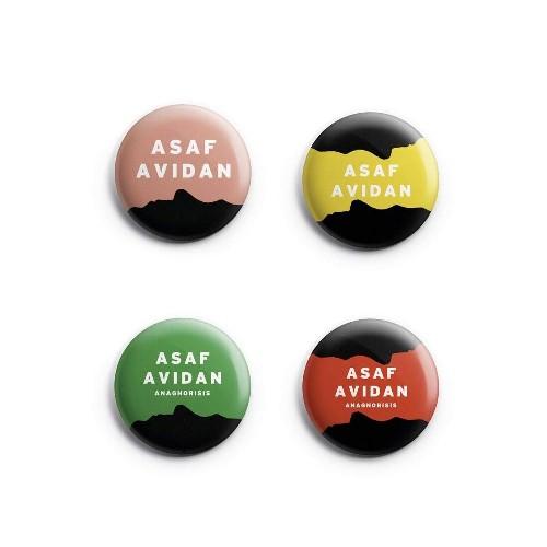 Asaf Avidan - Anagnorisis - BUTTON BADGE SET